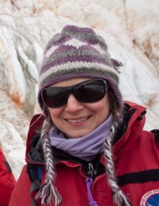 Jill Mikucki, a microbiology assistant professor at the University of Tennessee, is pictured in Antarctica while researching microbes. The results of the interdisciplinary study were published the current issue of Nature Communications. (KAREN HILTON/SPECIAL TO THE NEWS SENTINEL)